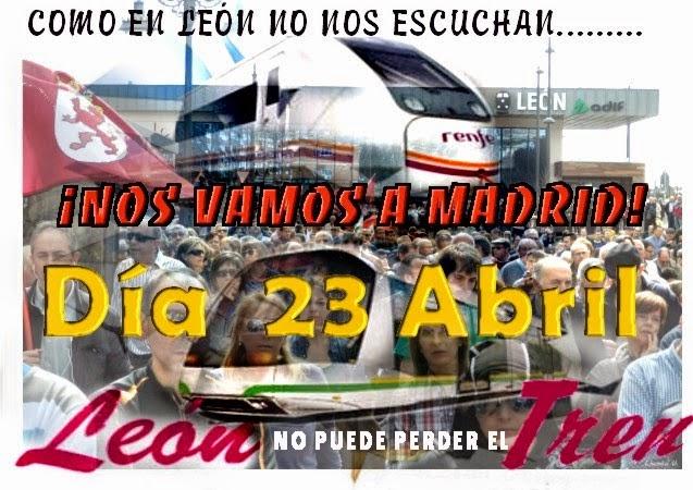 Manifestación por el tren en León