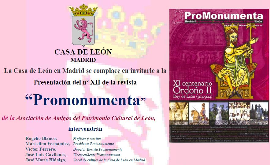 Acto PRPMONUMENTA en Casa de León