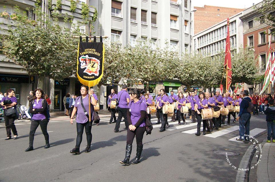 San Froilan 2014 Pendon Pedrún Asociacion de tamboriteros de Zamora 1